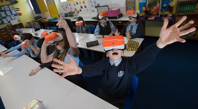 From kindergartners to post-secondary students, AR/VR helps engage students, helps them better understand advanced concepts, and boosts creativity. (Image courtesy of Tierney.)