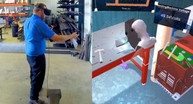 Purdue University's Skill-XR uses AR, VR and MR to share information in an effort to close the skills gap in manufacturing. (Image courtesy of Purdue University.)