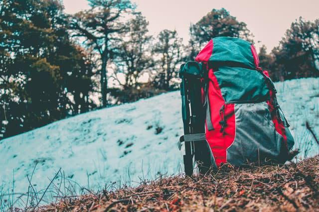 Imagem de uma mochila de escalada